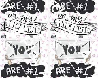 You Are #1 on my Pick List - Set of 4