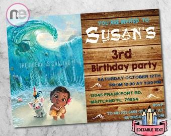 moana party, moana, moana instant, moana birthday, moana printable, disney princess, moana, moana supplies, moana birthday card