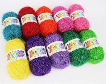 Clean Scrubber Yarn,Scrubbies Yarn, 100% Polyester, 27 Colors, 2.82oz(80g) (Thicker than other korean scrubby yarn)