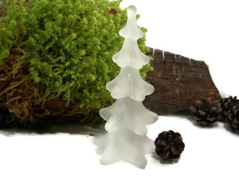 REIJMYRE Of Sweden Frosted Glass Christmas Tree Figurine Handmade Vintage Christmas Tree Collectible