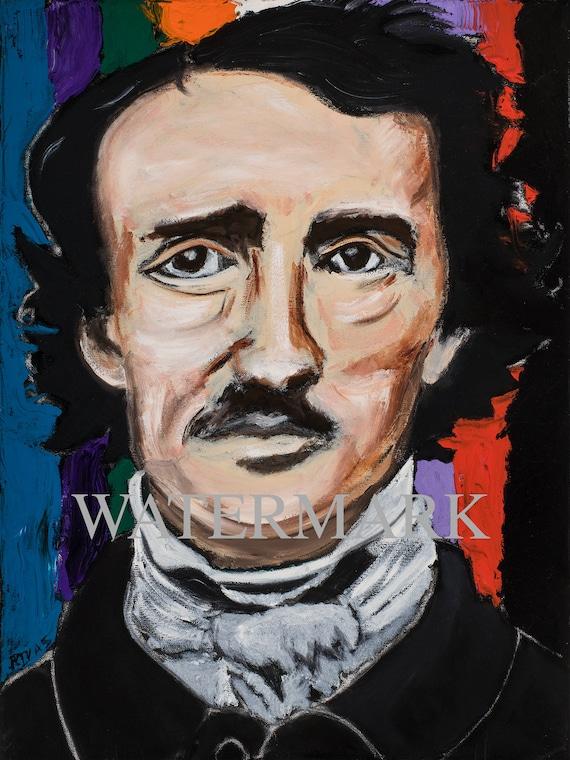 Edgar Allan Poe--9x12 Hand-Numbered Print