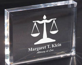 Personalized Lawyer Personalized Keepsake Paperweight Custom Name Gift