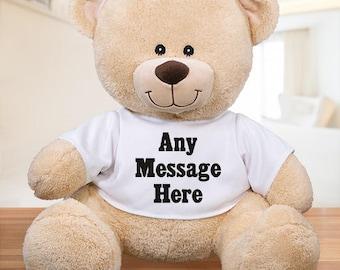 Personalized Custom Message Teddy Bear Custom Name Gift