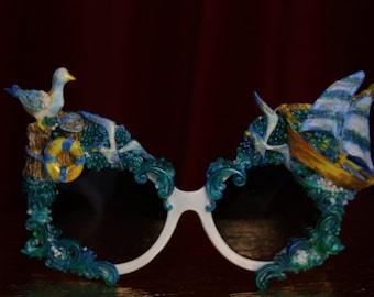Unusual Ocean Ship Seagal Shades Sunglasses