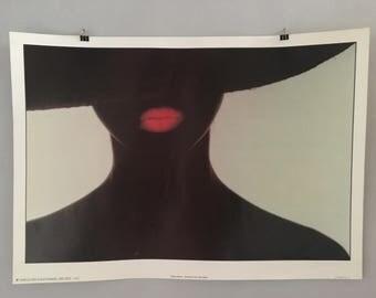1980s Poster from West Germany - Vintage German Design