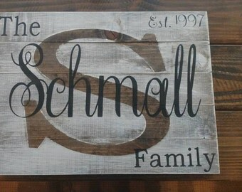 White Washed Family Sign