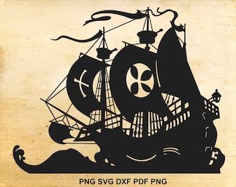 Ship silhouette – Etsy