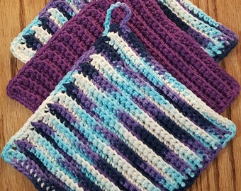 100% Cotton Washcloth 3-Pack, Create your own 3-pack, ribbed washcloth, dishcloth
