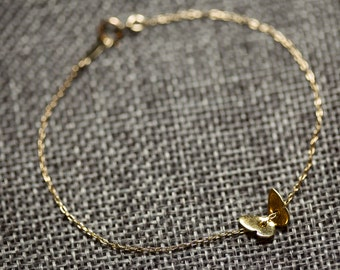 Cute butterfly bracelet//Vermeil//gold filledMinimalist//Simple//Dainty//Everyday//GFV002 (ONLY TWO)