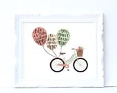 Keep Moving | 8x10 digital download | hand lettered print | Einstein quote | Life is Like Riding a Bike | gift for her | motivation wall art
