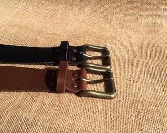 Mens Leather Belt, Full Grain, Hand Made in Australia