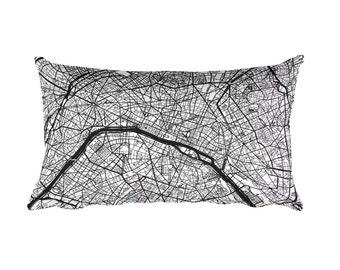 Paris Pillow, Paris Decor, Paris Throw Pillow, Paris Gift, Paris Map, Paris Art, Paris France, Paris Home, Paris Map Pillow