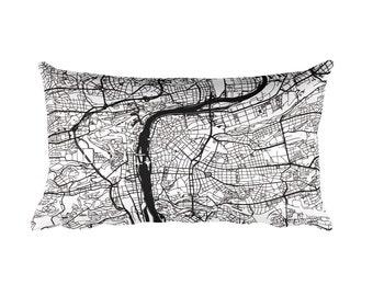 Prague Pillow, Prague Decor, Prague Cushion, Prague Throw Pillow, Prague Gift, Prague Throw, Prague Czech Republic Map, Prague Art, Map Art