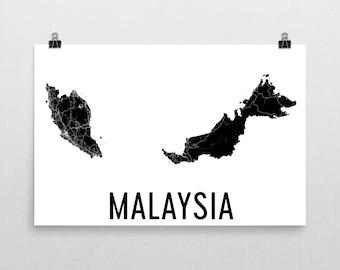 Malaysia Map, From Malaysia, Map of Malaysia, Malaysian Art, Malaysia Poster, Malaysia Wall Art, Malaysia Poster, Malaysia Gifts, Decor