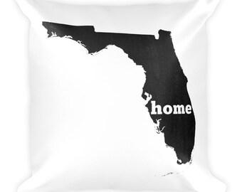 Florida Pillow, Florida Gifts, Florida Decor, Florida Home, Florida Throw Pillow, Florida Art, Florida Map, Florida Made, Florida Cushion