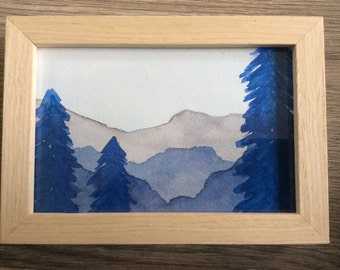 Framed aquarel