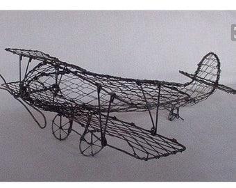 Airplane centerpiece. airplane decor. Airplane wedding decoration. Airplane baptism decor.wire airplane. wedding. Antique airplane hangar.