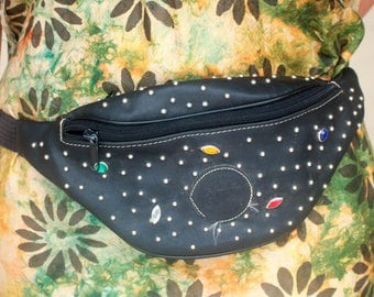 Vintage 80's Faux Leather Studded Bum Bag