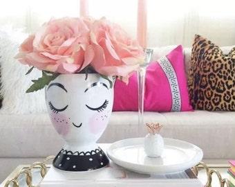 Cute Girl Ceramic Cup by Target Threshold Pencil Holder, Makeup Brush Holder, Organizer