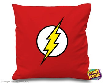 The Retro Flash Pillow Cushion Cover- Inspired by the TV series - Barry Allen, zoom, reverse flash, star labs,