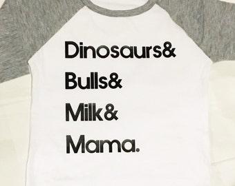 CUSTOM favorite things Toddler Graphic Shirt. 3/4 sleeve baseball tee.