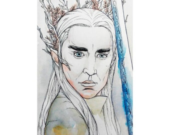 Illustration of Thranduil from The Hobbit.