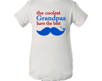 The Coolest Grandpas Have The Best Mustaches Baby Bodysuit