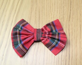 Hand sewn Fabric Hair Bows on Alligator Clips