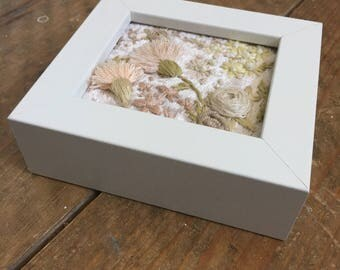 3D florals no.9 - in white frame