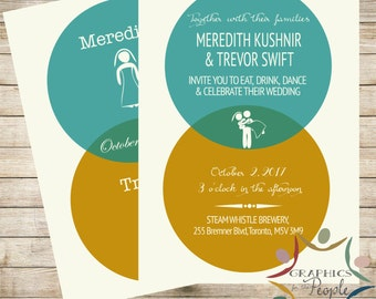 Venn Diagram Infographic Wedding Invitation