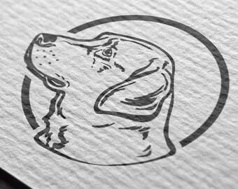Labrador Retriever Silhouette - vector art - clip art - svg, eps, png, ai, jpg