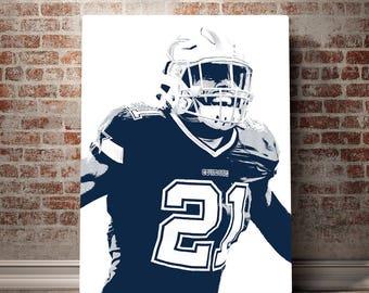 Dallas Cowboys Wall Art dallas cowboys canvas dez bryant dallas cowboys wall art