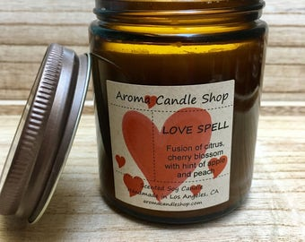 8oz LOVE SPELL Scented Soy Aroma Candle