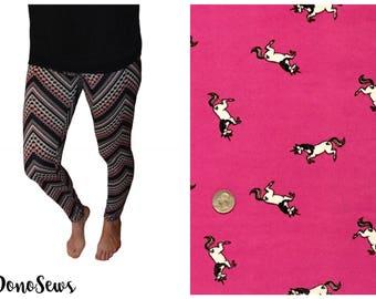 Unicorn Leggings, Soft Brushed Poly Leggings, Handmade Leggings, Gift for Women, Unique Leggings, Women's Leggings, Patterned Leggings