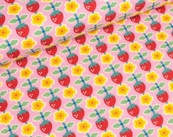 Cotton Jersey Berrylove Strawberry pink by Jolijou (16,50 EUR / meter)