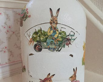 Easter time bunny jar