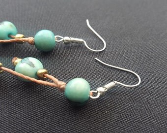 Earrings Acai Aqua made in Ecuador