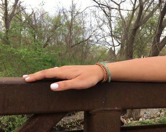 Seed Bead Single Wrap Bracelet