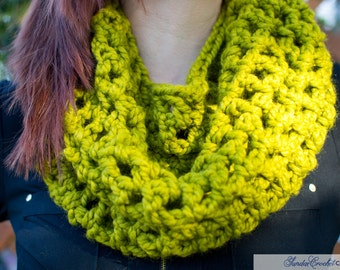 A Little Bit Of Lime Crochet Cowl Scarf