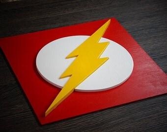 Superhero Flash, Wall art, Kids bedroom wall art, Superhero sign