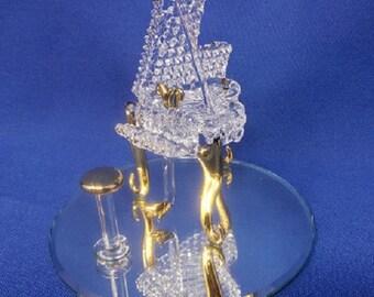 Glass Baron Piano Figurine