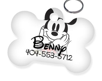 Disney Mickey Mouse Custom Personalized Pet Tag for Dog