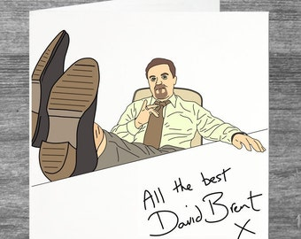 The Office UK | David Brent | All the best | Greetings card