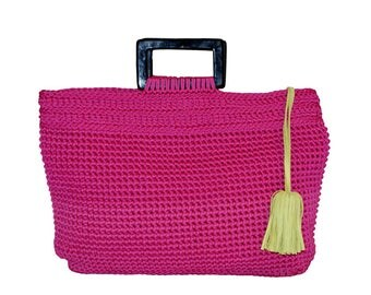 Large bag with handle & Pompom