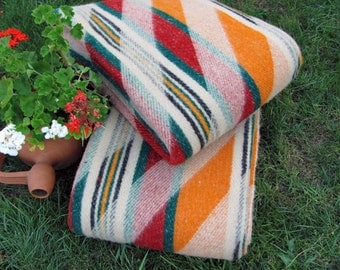 Wool Blanket and Throw 100% Organic wool Gift for Her Gift for Him Home Gift Cottage style Made in EUROPE!