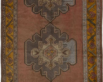 "4'11"" x 10'11""  Anadol Vintage Turkish Rug"