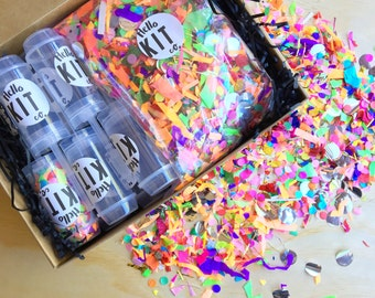 Confetti Popper KIT of 12 - More colours available