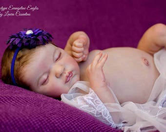 Beautiful Custom Reborn *Evangeline* By Laura Lee Eagles comes with COA and Tummy Plate