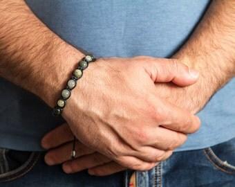 Aragonite , Mens Bracelets, Mens Yoga Bracelet, Mens Beaded Bracelet, Men Bracelete Beaded Bracelet
