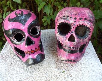 Skulls, Dia De Los Muertos, Pink Skulls